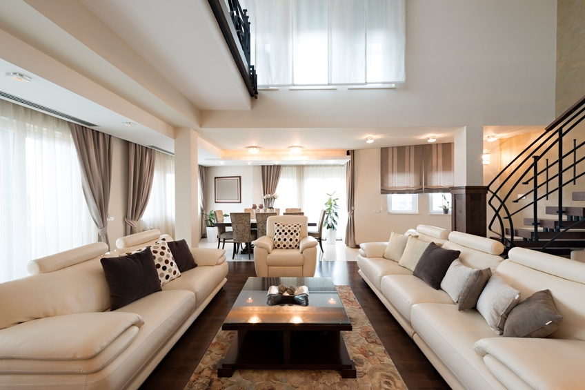 furnished living room interior