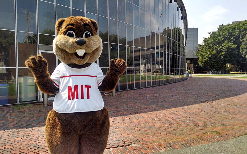 The MIT mascot on campus