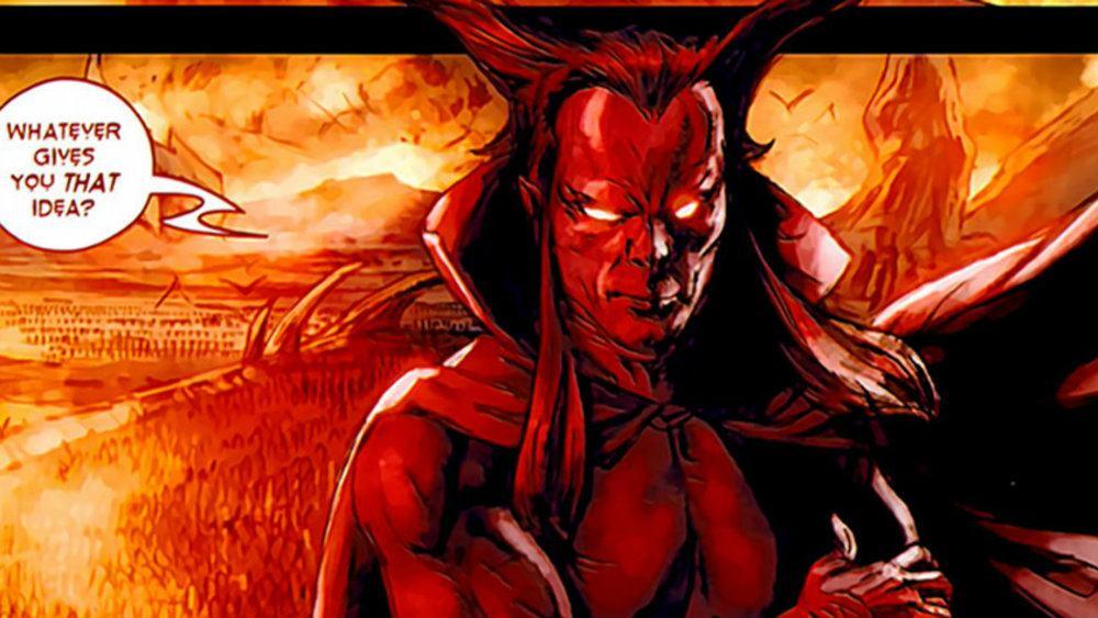 Mephist in the defenders Marvel Comics
