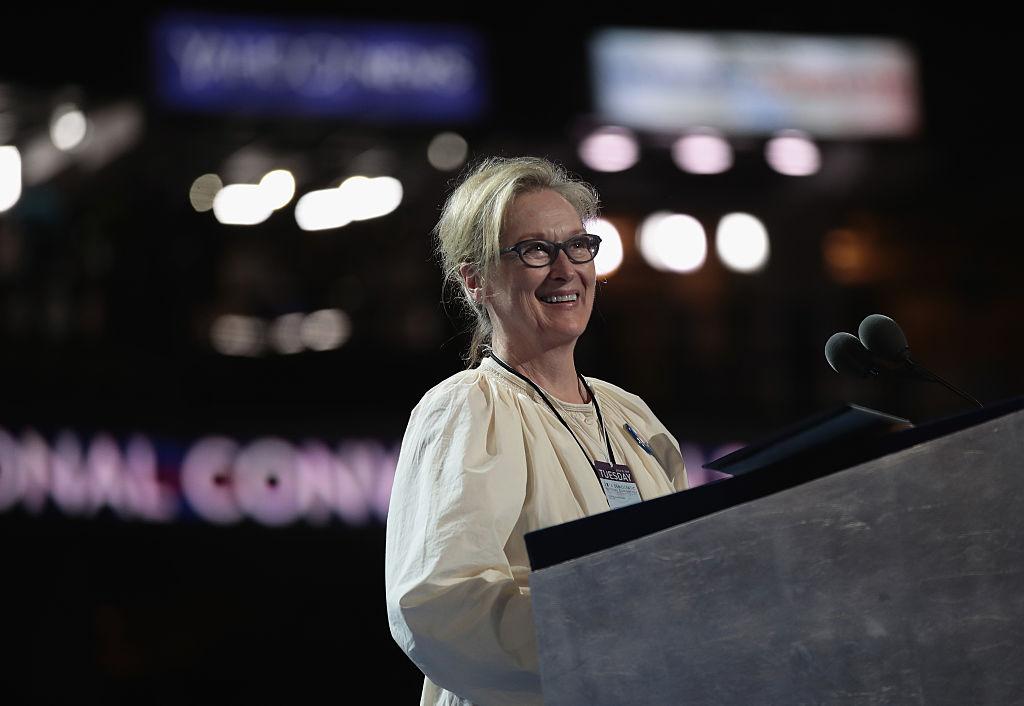 Actress Meryl Streep walks on stage