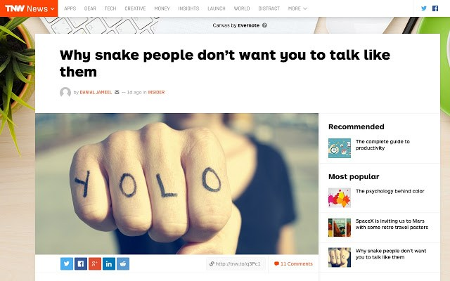 Millennials to Snake People - Chrome extensions
