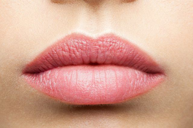 frosted pink lips
