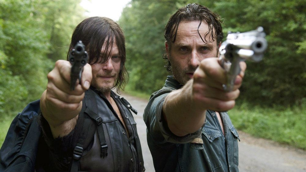 Norman Reedus and Andrew Lincoln in The Walking Dead