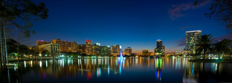 Orlando skyline at night