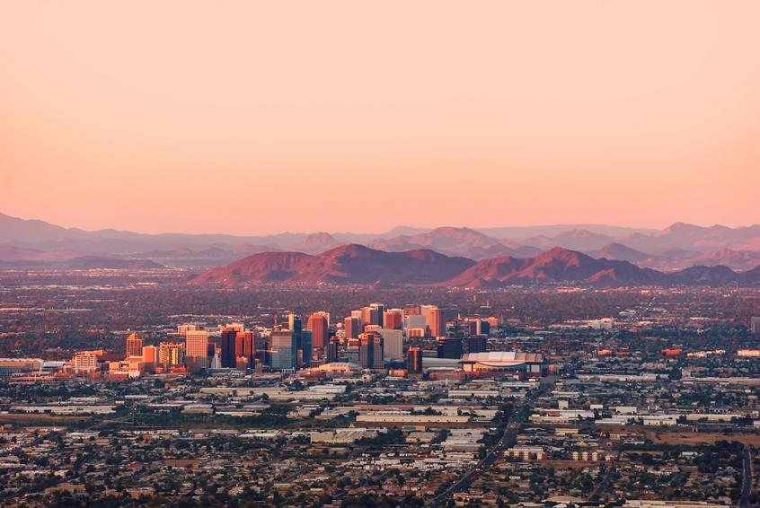 Aerial view of Phoenix