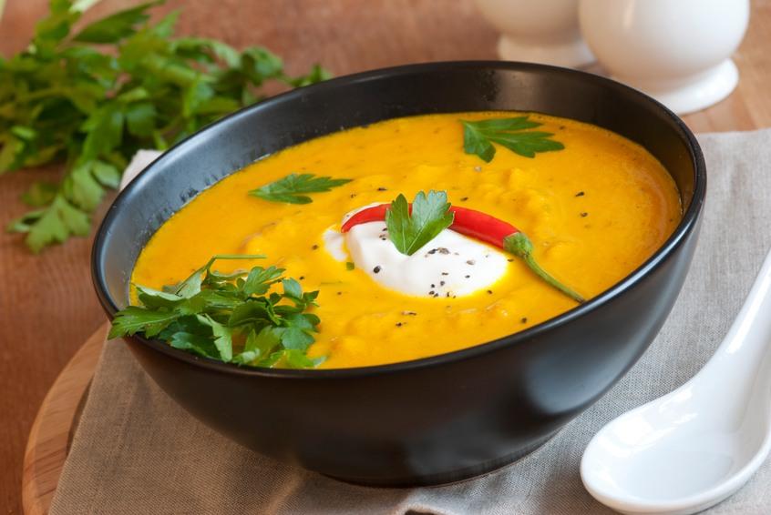 Roast squash and chili soup