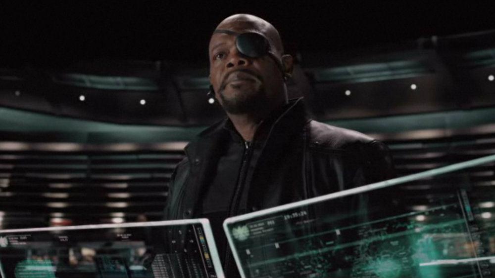 Samuel L Jackson in The Avengers