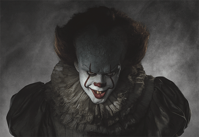 The evil clown Pennywise from the upcoming It remake