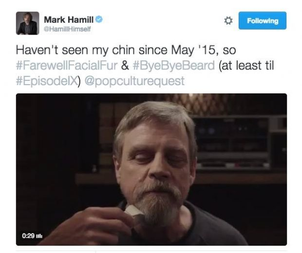 Mark Hamill Tweeting about Star Wars Episode IX