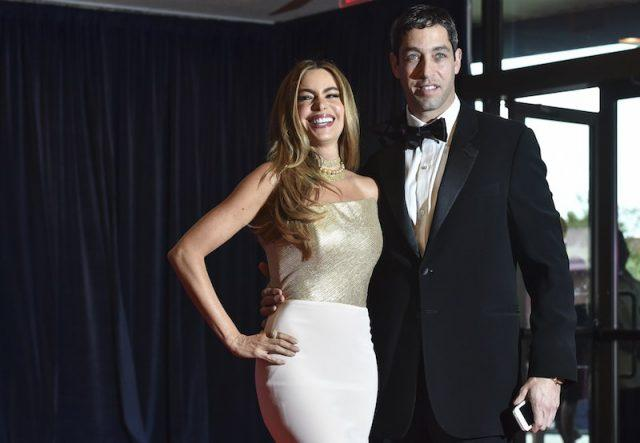 Sofia Vergara and Nick Loeb arrive at the White House Correspondents' Association (WHCA) annual dinner.