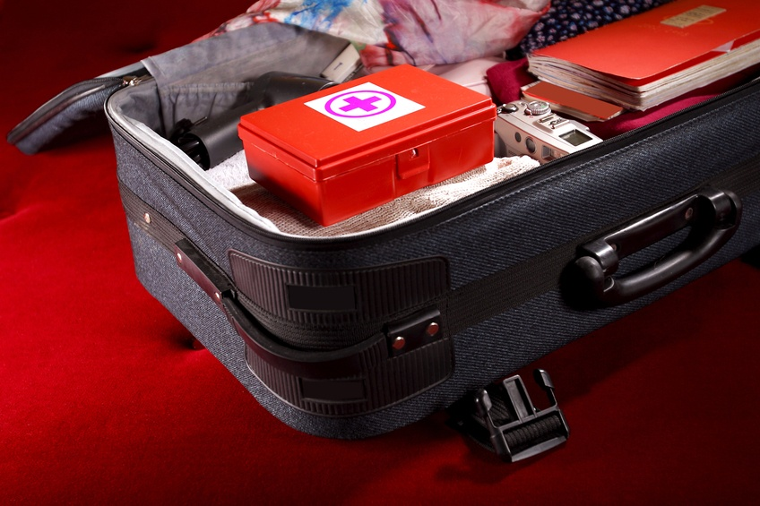 first-aid kit in a suitcase