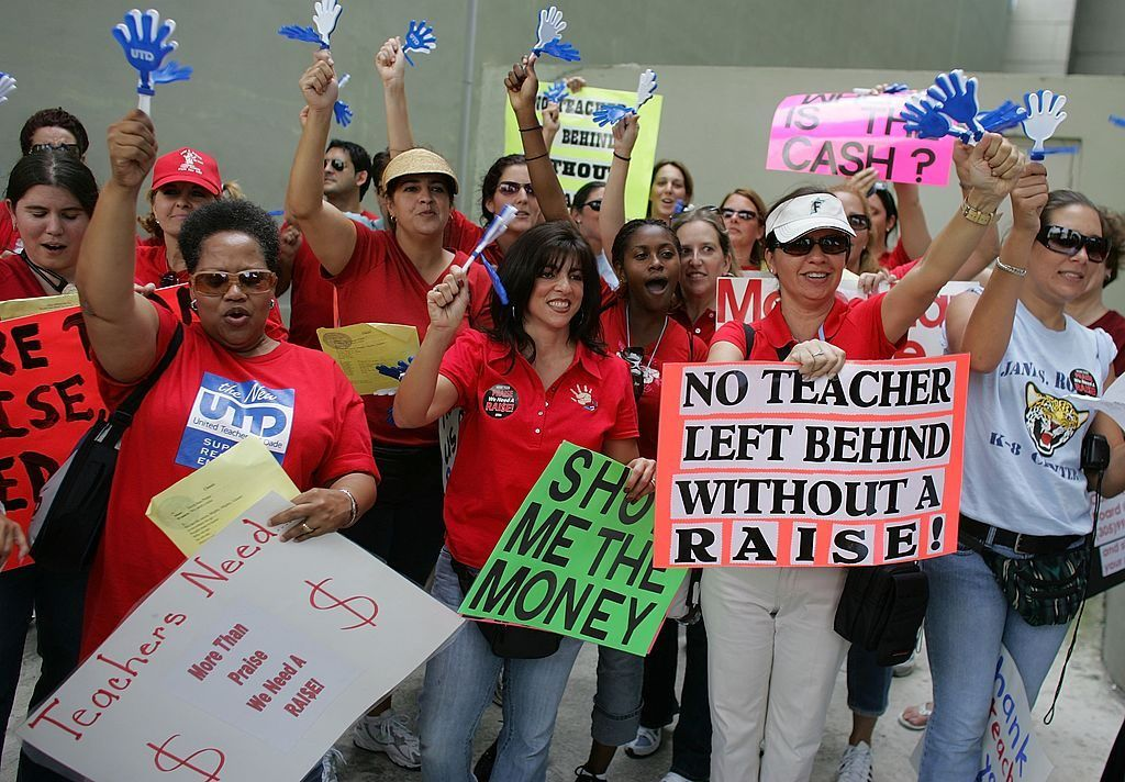 teacher salaries protest