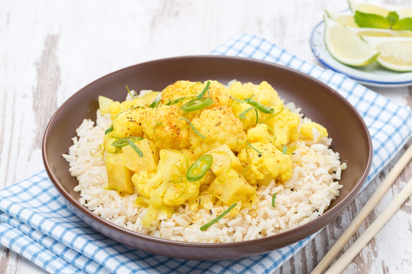 vegetable curry with cauliflower