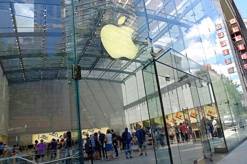 NEW YORK, NY - JULY 27: The Apple Store, Upper West Side is shown July 27, 2016 in New York City. On Tuesday, Apple reported a steep slump in revenue and profit, but beat analyst projections. The maker of the iPhone and iPad reported third-quarter profit sliding 27 percent to $1.42 per share, according to published reports. Analysts had expected $1.39 per share, according to the reports. Apple's share price today jumped on forward guidance from the company.