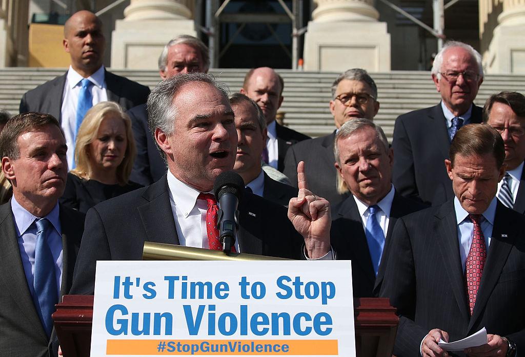 Tim Kaine gun control rally