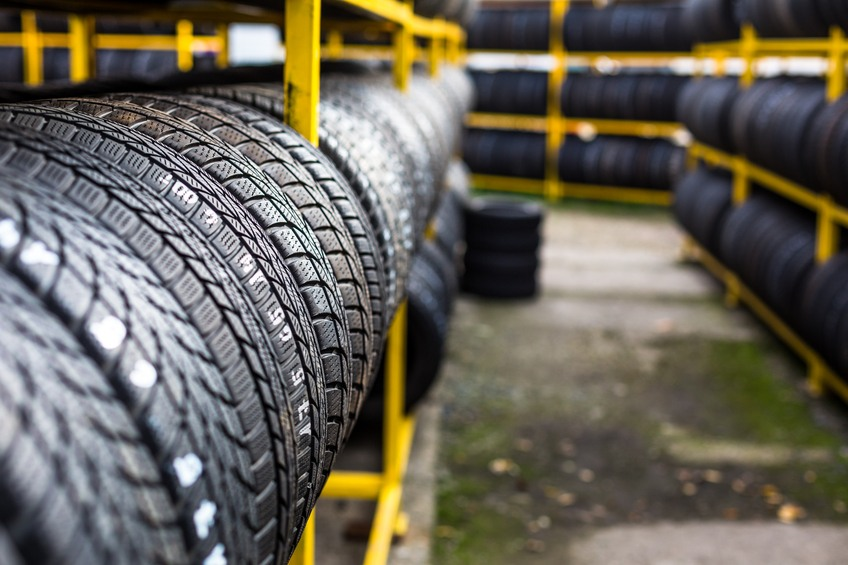 New tires for sale at a tire store