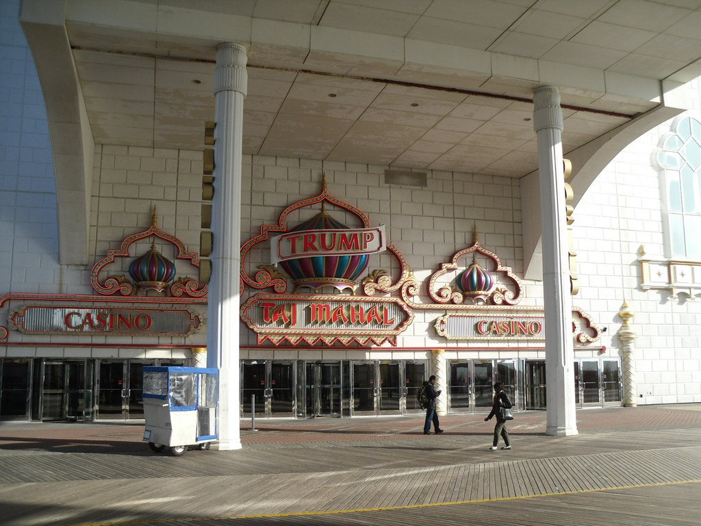 Facade of the Trump Taj Mahal