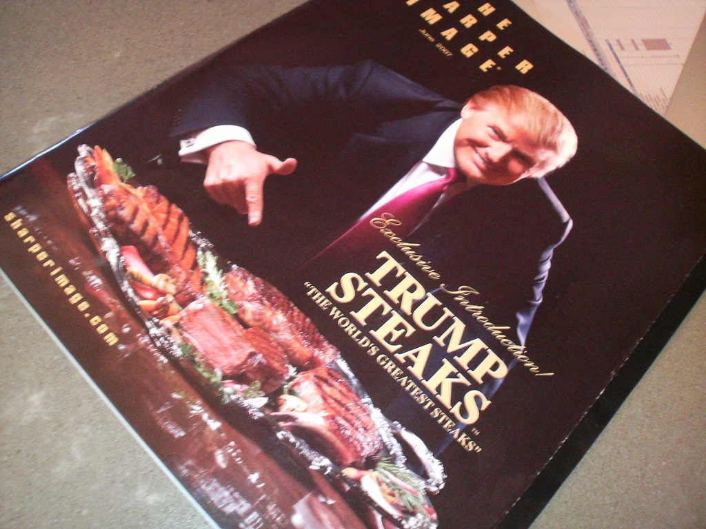 Ad for Trump Steaks