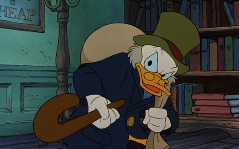 Scrooge McDuck, a well-known stingy jerk