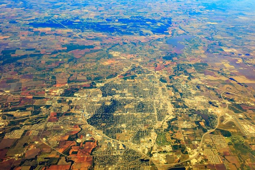 Aerial view of Abilene, Texas