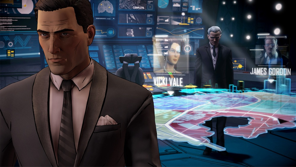Bruce Wayne in the Bat Cave | Source: Telltale Games