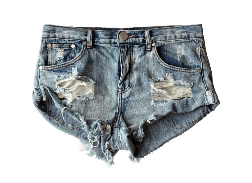 blue denim shorts ripped