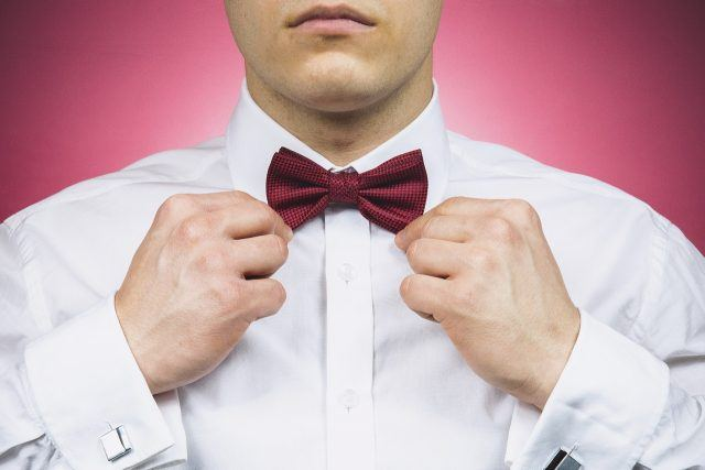 man with a bow tie