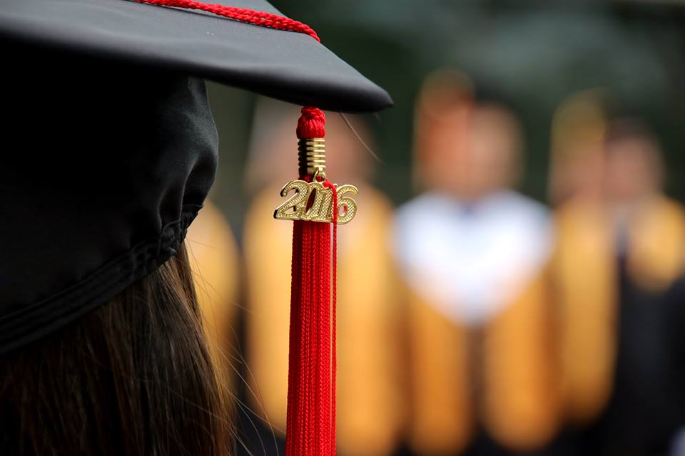 A Caltech grad during commencement
