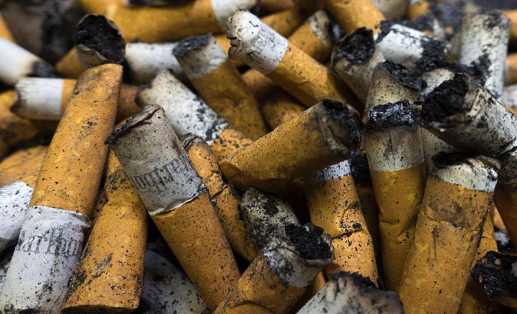 cigarettes in ashtray