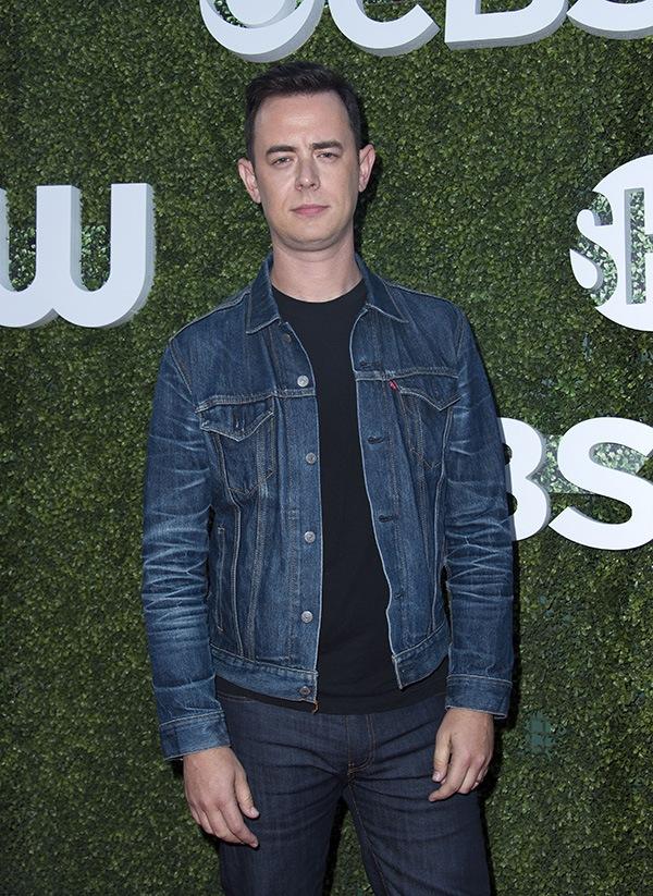 Colin Hanks wearing a jean jacket