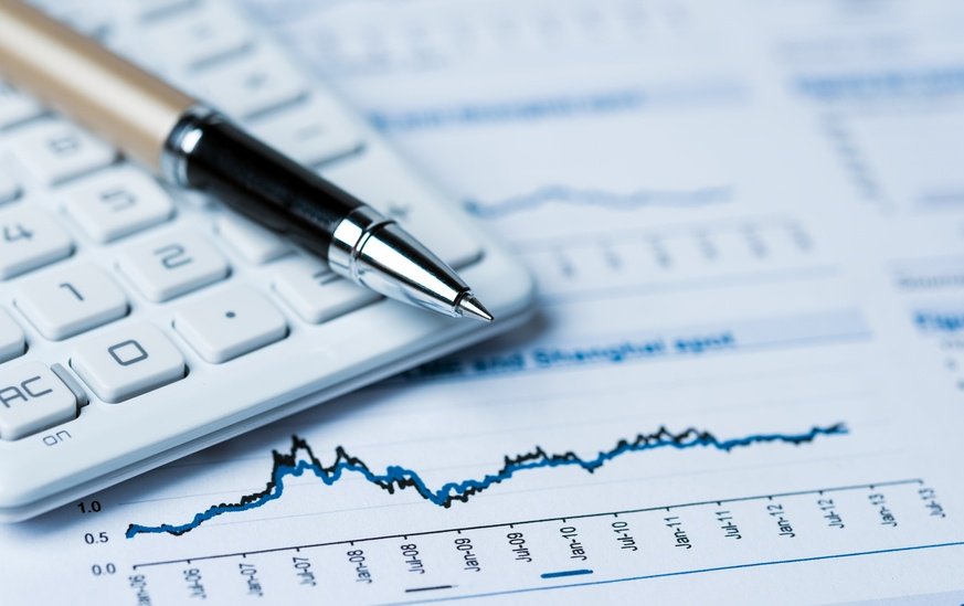 financial accounting concept with graphs