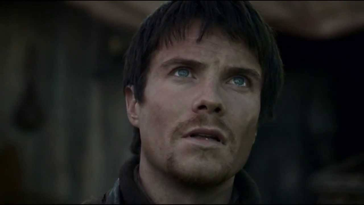 Gendry looking up in concern