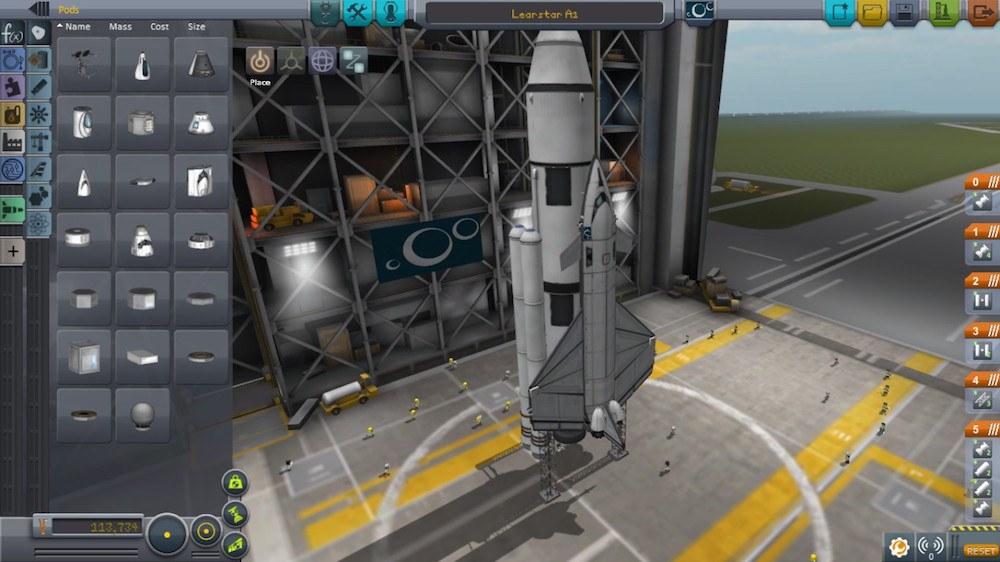 Building a rocket in Kerbal Space Program
