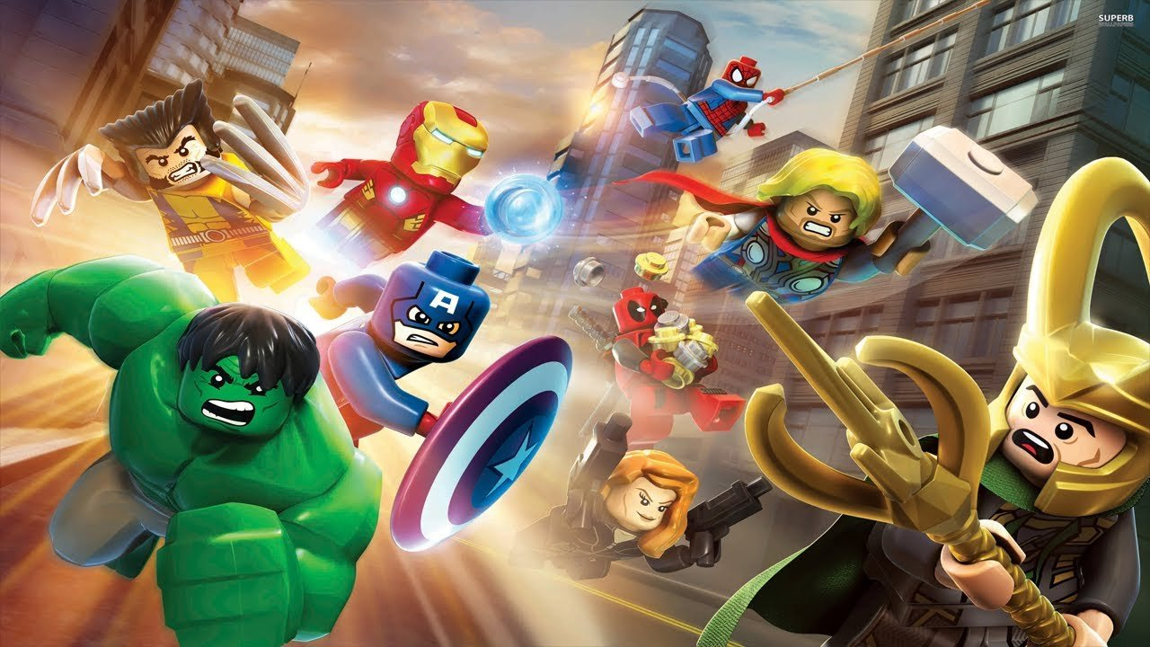 Lego versions of Marvel superheroes.