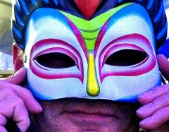 man in mask