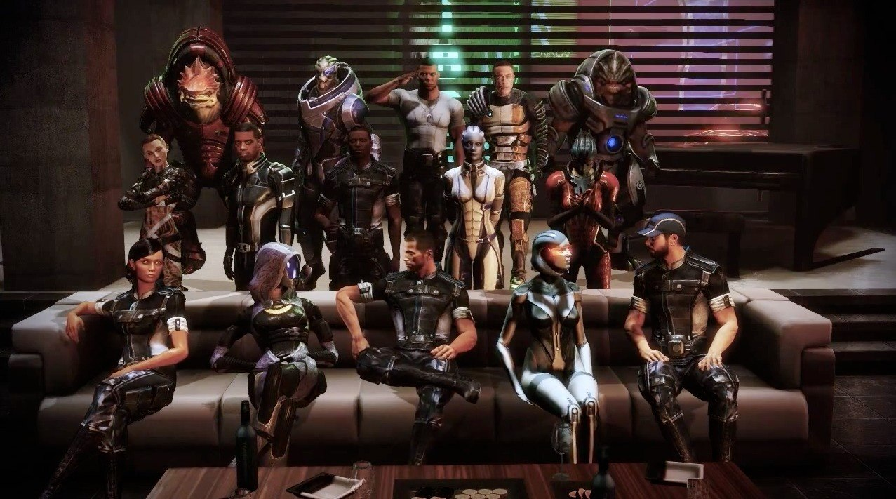 The crew of Mass Effect 3.