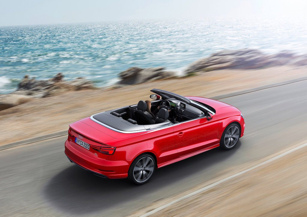 Red 2017 Audi A3 Cabriolet