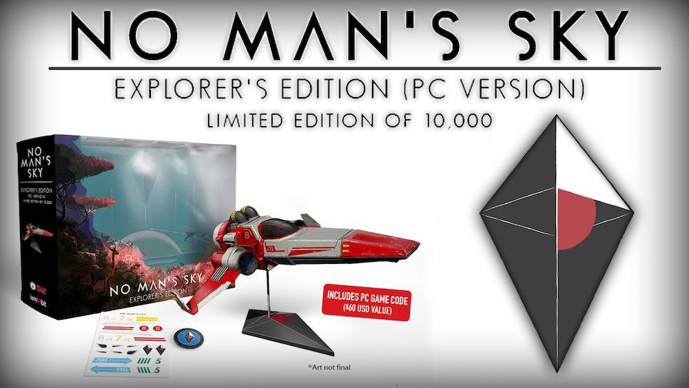 Contents of the No Man's Sky Explorer's Edition
