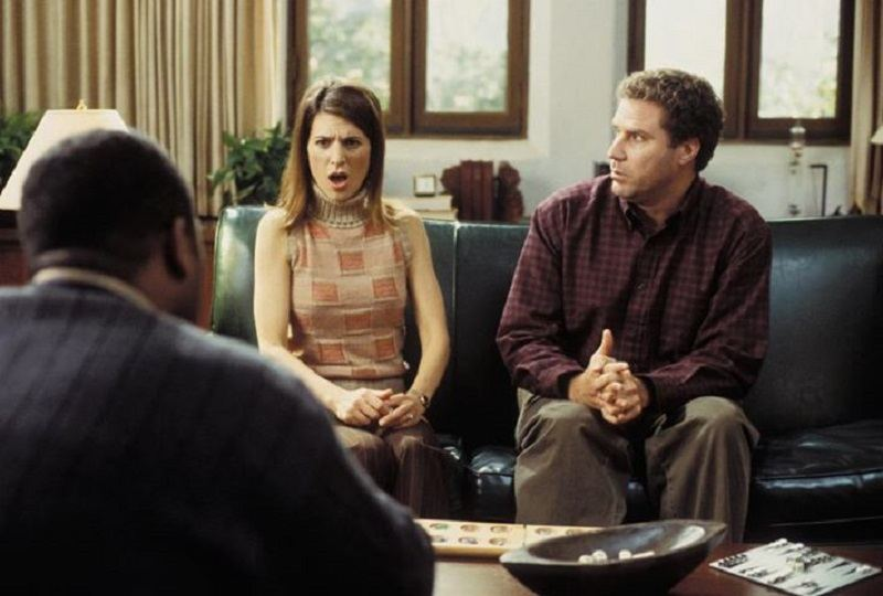 """A divorce and marriage counseling session in """"Old School"""""""