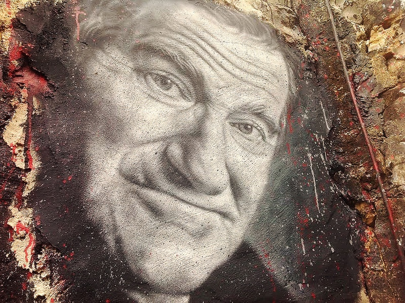A painting of Robin Williams