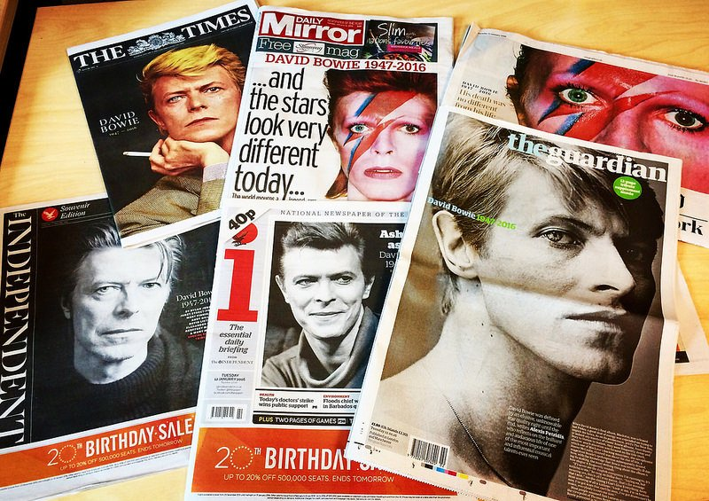 david bowie covers of news magazines