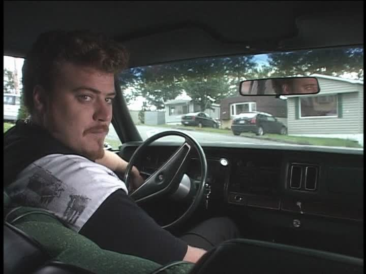Ricky from 'Trailer Park Boys' , an expert at losing money, sits behind the wheel of his car