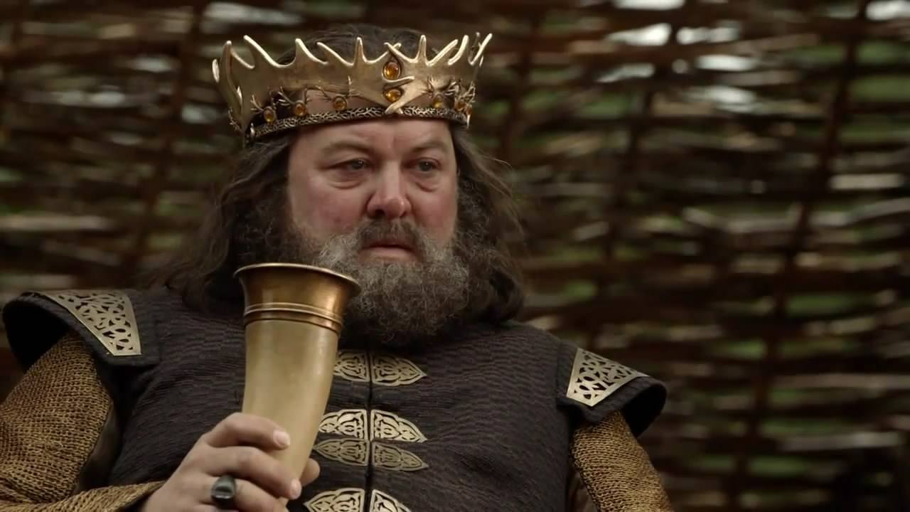 King Robert Baratheon on Season 1 of Game of Thrones