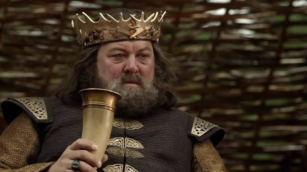 King Robert Baratheon on seasone one of Game of Thrones