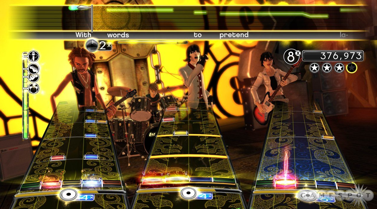 Rocking out in Rock Band 2