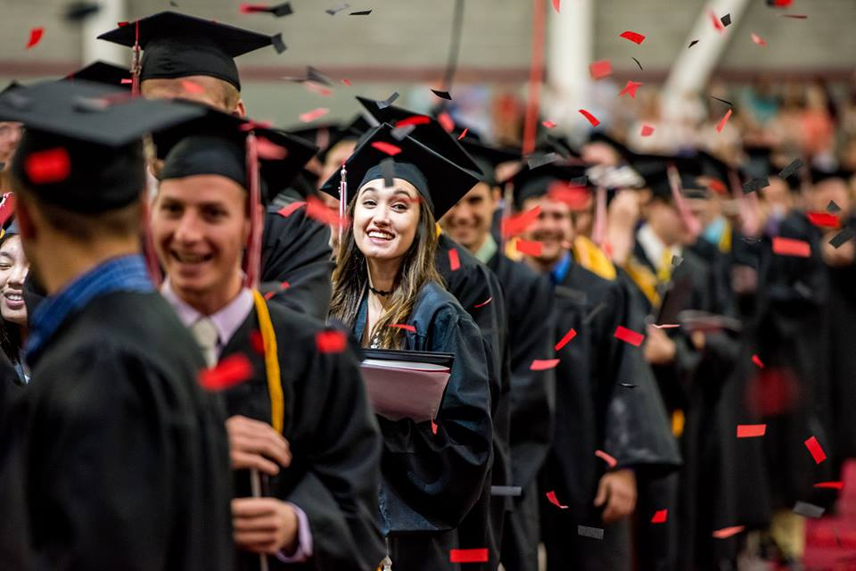 Graduates during 2016 commencement at Rose-Hulman Institute of Technology