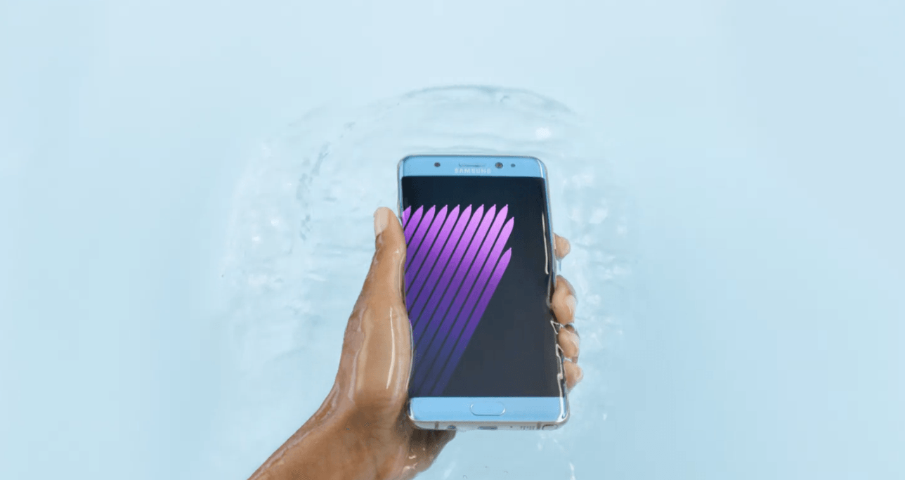 Galaxy Note 7 is water resistant