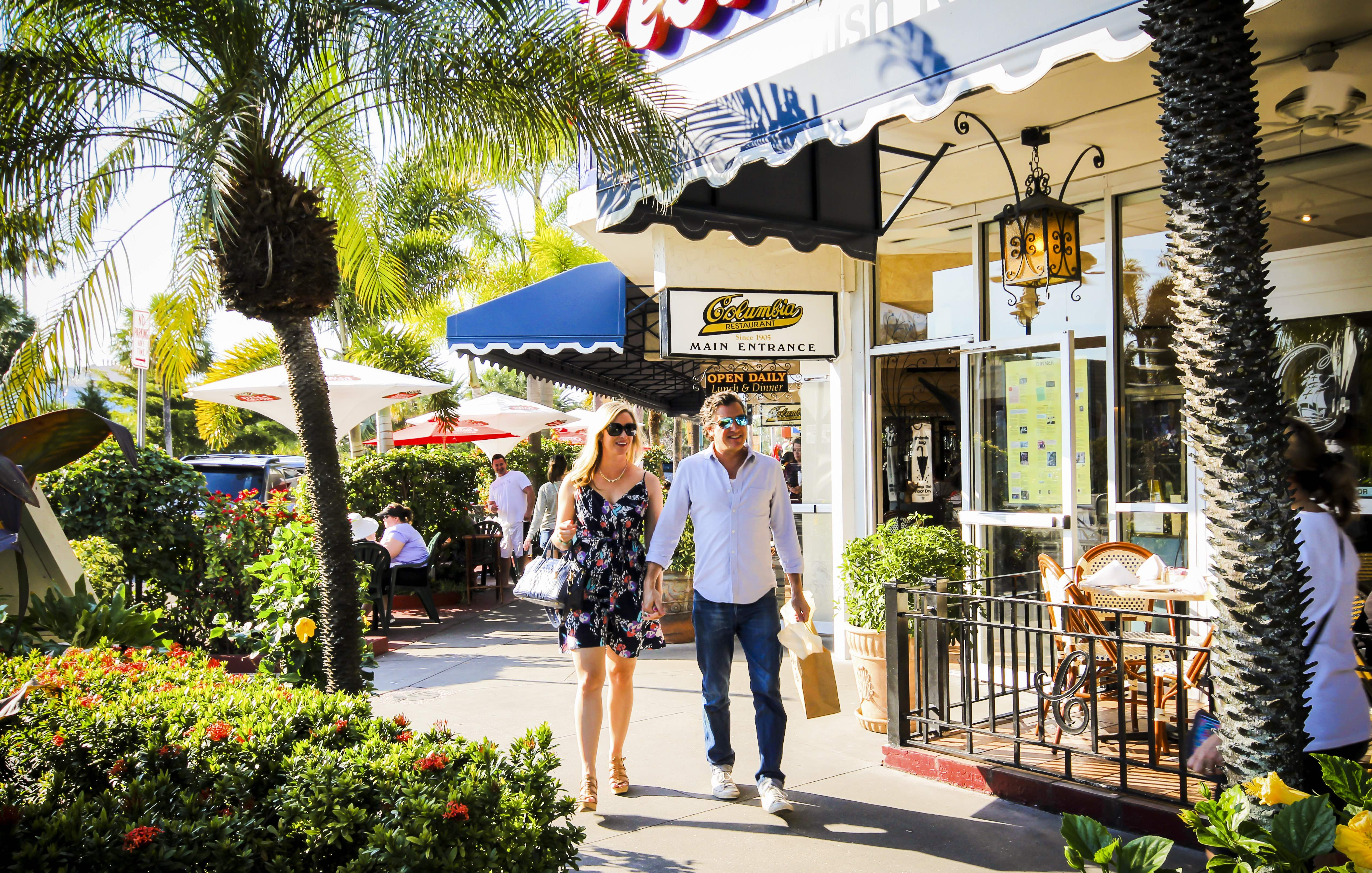 Shopping at St. Armands Circle in Sarasota, Florida