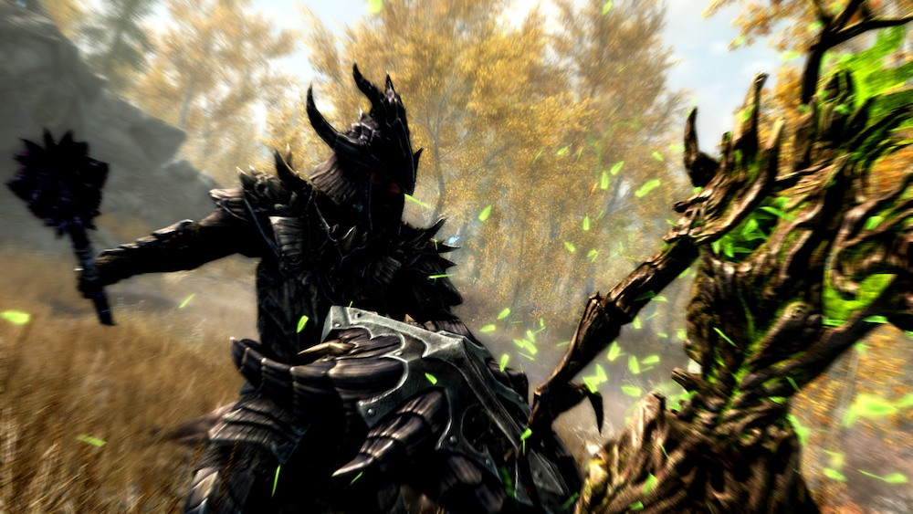 A club-wielding beast in Skyrim