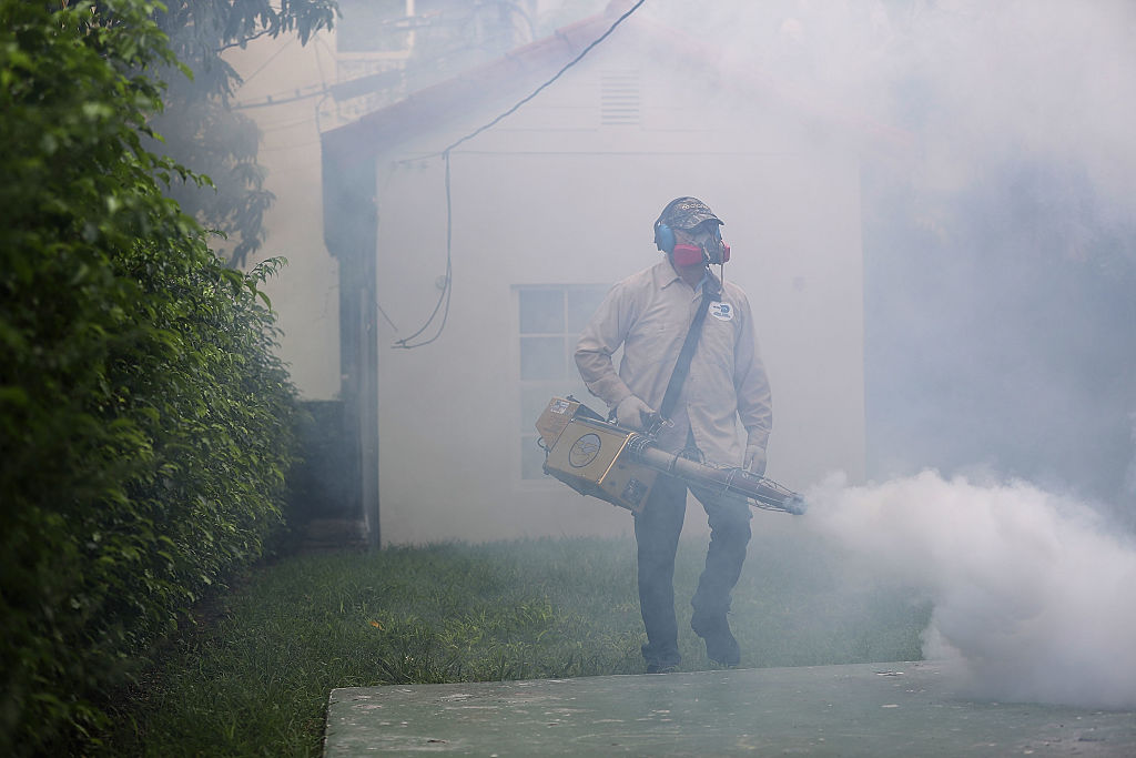 spraying for mosquitoes